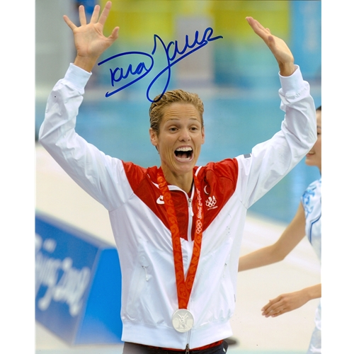 Dara Torres Autographed Beijing Olympics (Silver Medal) 8x10 Photo