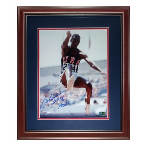 "Bob Beamon Autographed USA Long Jump Deluxe Framed 11x14 Photo w/ ""29ft 2 1/2 1968"""