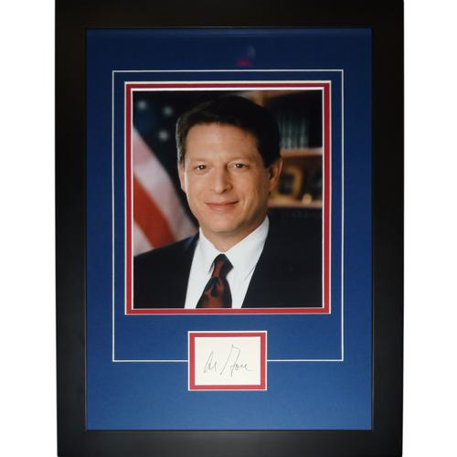 "Al Gore Autographed Vice President ""Signature Series"" Frame"