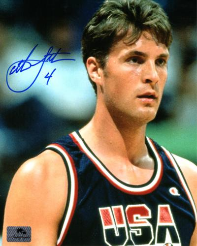 Christian Laettner Autographed Team USA (Dream Team) 8x10 Photo