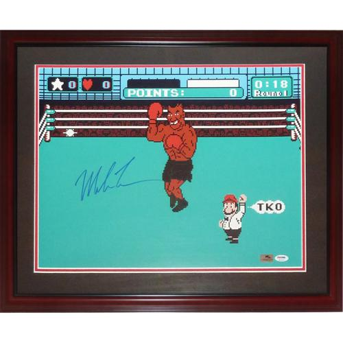 Mike Tyson Autographed Boxing (Nintendo Punchout) Deluxe Framed 16x20 Photo - PSA