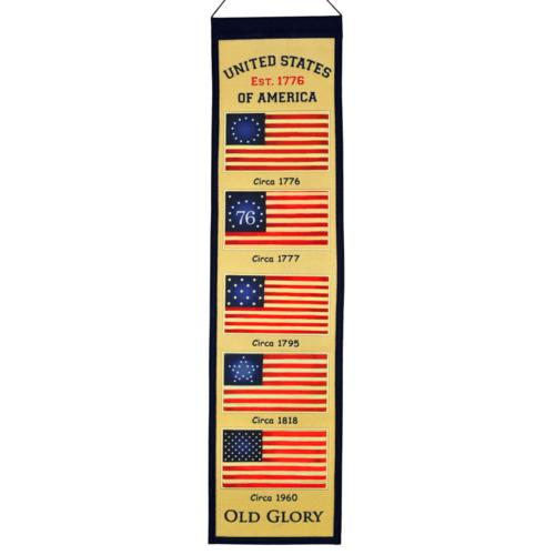 "United States of America ""Old Glory"" American Flag Evolution Heritage Banner"