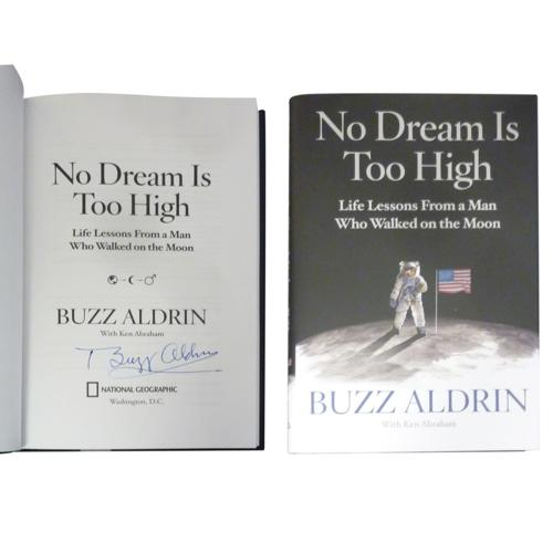 "Buzz Aldrin Autographed ""No Dream Is Too High"" Book"