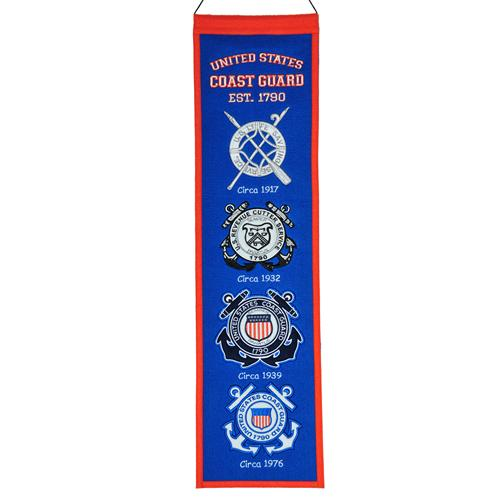 United States of America Coast Guard Evolution Heritage Banner