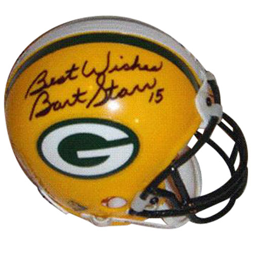 Bart Starr Autographed Green Bay Packers Mini Helmet