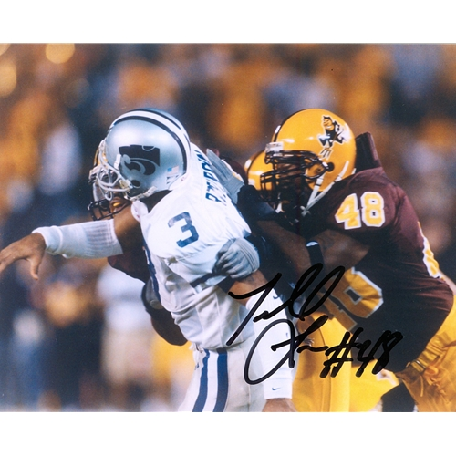 Terrell Suggs Autographed Arizona State Sun Devils (vs Kansas St) 8x10 Photo