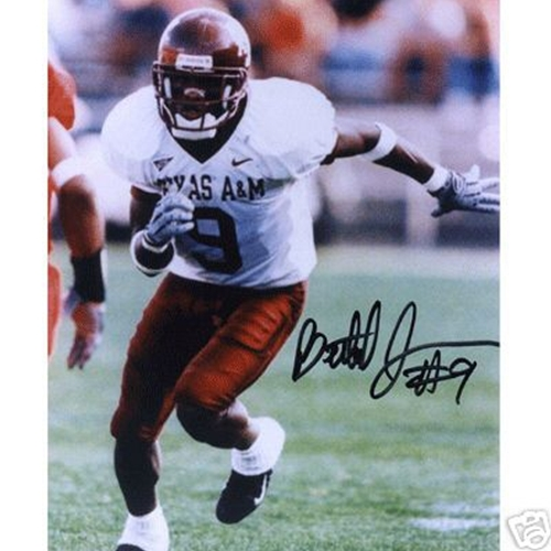 Bethel Johnson Autographed Texas A&M Aggies (White Jersey) 8×10 Photo