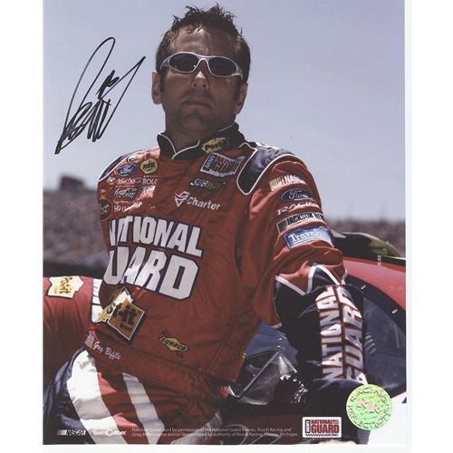 Greg Biffle Autographed National Guard 8x10 Photo