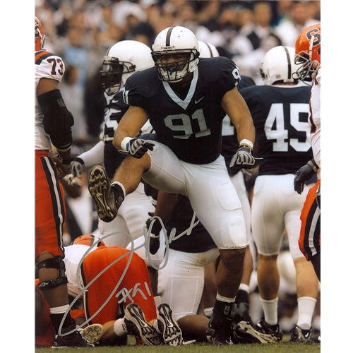 Jared Odrick Autographed Penn State Nittany Lions (Blue Jersey) 8x10 Photo