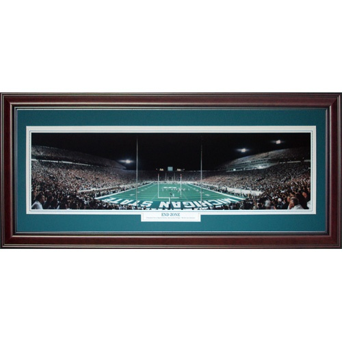 Michigan State Spartans (End Zone) Deluxe Framed Panoramic Photo