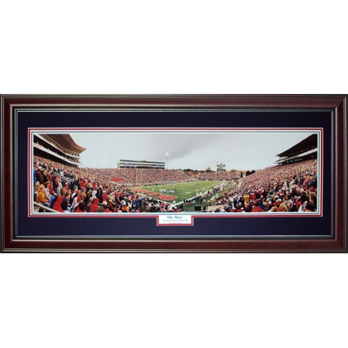 University of Mississippi Rebels (Ole Miss) Deluxe Framed Panoramic Photo