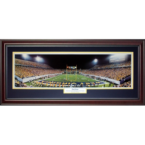 West Virginia University Mountaineers (End Zone) Deluxe Framed Panoramic Photo