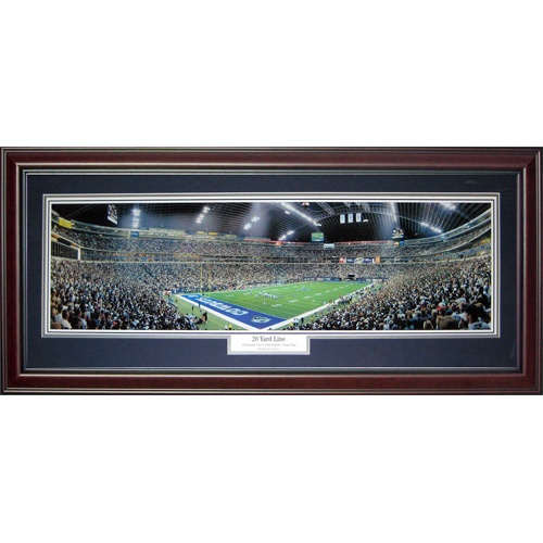 Dallas Cowboys (20 Yard Line) Deluxe Framed Panoramic Photo