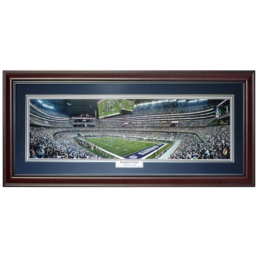 Dallas Cowboys (Inaugural Game) Deluxe Framed Panoramic Photo