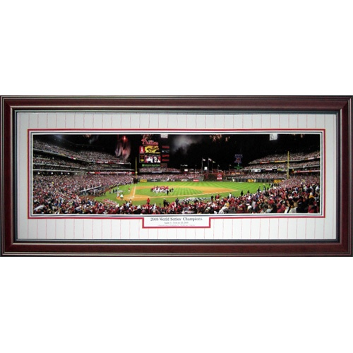Philadelphia Phillies (2008 World Series Champions) Deluxe Framed Panoramic Photo