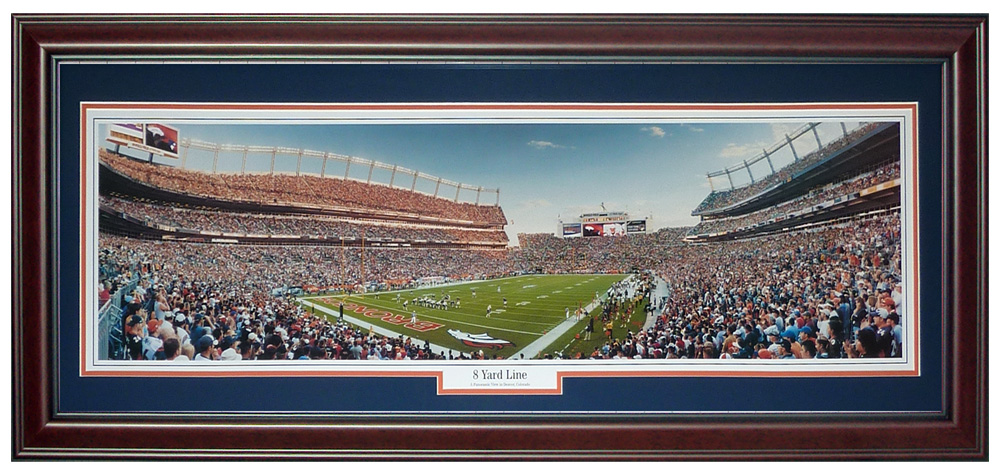 Denver Broncos (Invesco Field at Mile High) Deluxe Framed Panoramic Photo
