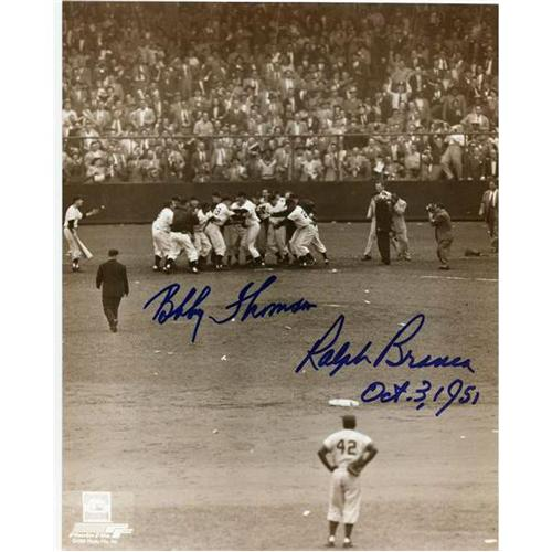 "Ralph Branca and Bobby Thomson Dual Autographed ""Shot"" (Vertical) 8x10 Photo"