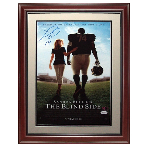 Michael Oher Autographed Blind Side Deluxe Framed Movie Poster