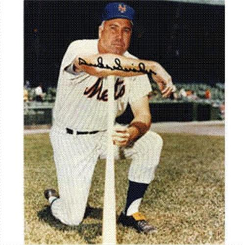 Duke Snider Autographed New York Mets 8x10 Photo
