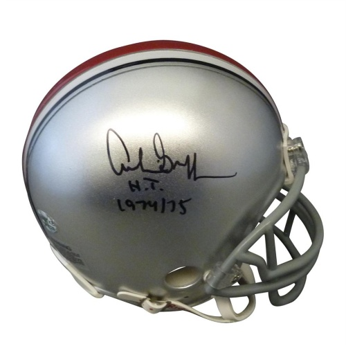"Archie Griffin Autographed Ohio State Buckeyes Mini Helmet w/ ""H.T. 1974/75"""