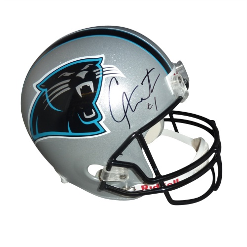 Cameron Newton Autographed Carolina Panthers Deluxe Full-Size Replica Helmet - Newton Holo