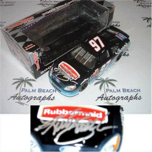 Kurt Busch Autographed Rubbermaid #97 (Team Caliber Pit Stop Black) 1/24 Diecast Car