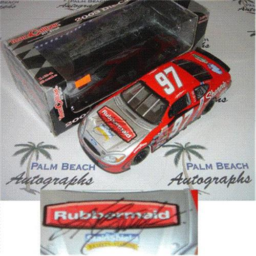 Kurt Busch Autographed Rubbermaid #97 (Team Caliber Pit Stop Red) 1/24 Diecast Car