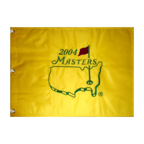 2004 Masters Embroidered Golf Pin Flag - Phil Mickelson Champion , Arnold Palmer Final
