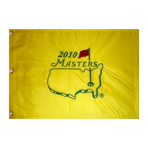 2010 Masters Embroidered Golf Pin Flag - Phil Mickelson Champion