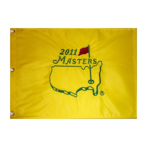 2011 Masters Embroidered Golf Pin Flag - Charl Schwartzel Champion