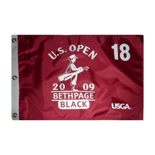 2009 U.S. Open (Bethpage Maroon) Golf Pin Flag - Lucas Glover Champion
