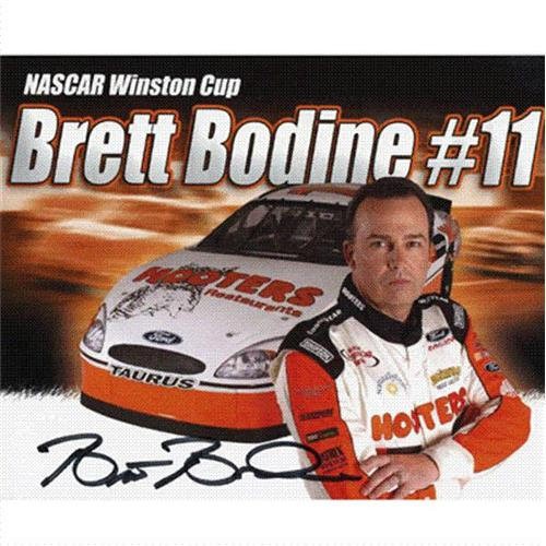 Brett Bodine Autographed Hooters 8x10 Promo