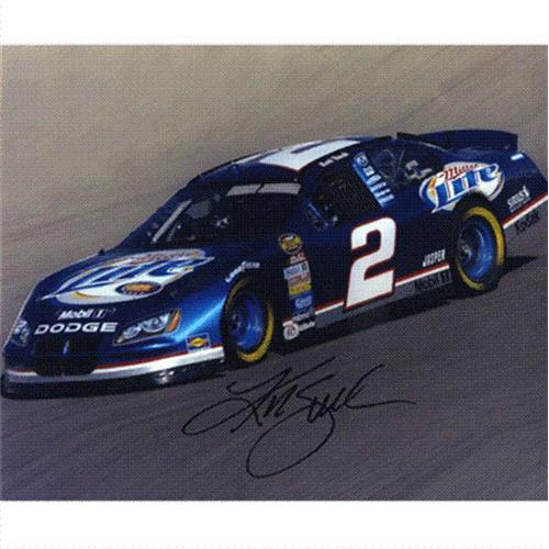 Kurt Busch Autographed Miller Lite 8×10 Photo