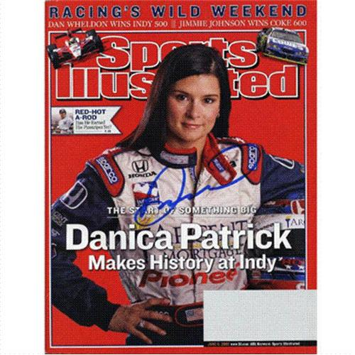 Danica Patrick Autographed (Makes History At Indy) Sports Illustrated – 6/6/05