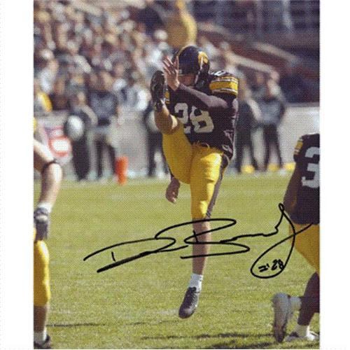David Bradley Autographed Iowa Hawkeyes 8x10 Photo
