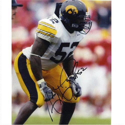 Abdul Hodge Autographed Iowa Hawkeyes 8x10 Photo