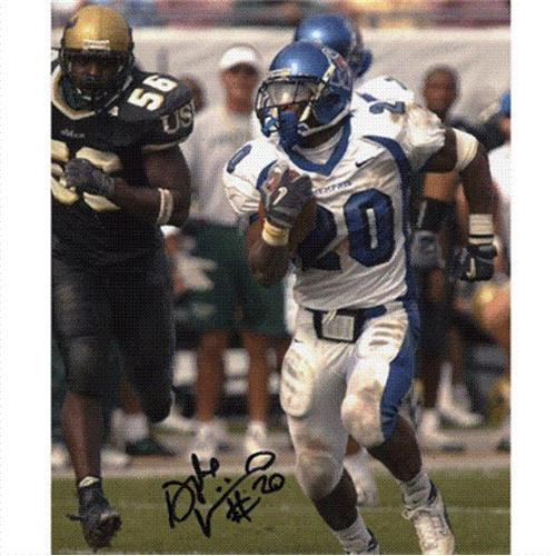 DeAngelo Williams Autographed Memphis Tigers (White Jersey) 8x10 Photo