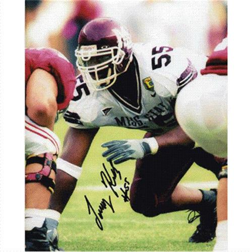 Tommy Kelly Autographed Mississippi State Bulldogs 8x10 Photo