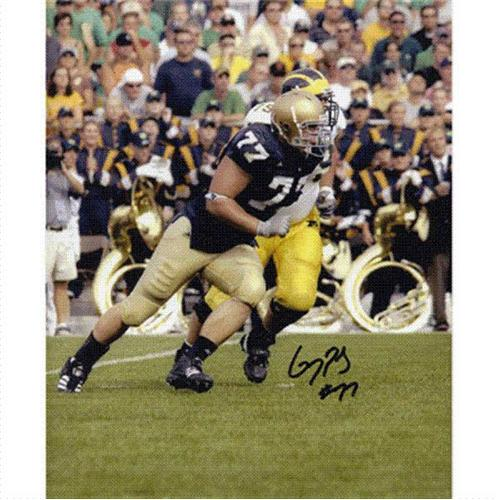 Greg Pauly Autographed Notre Dame Fighting Irish 8x10 Photo