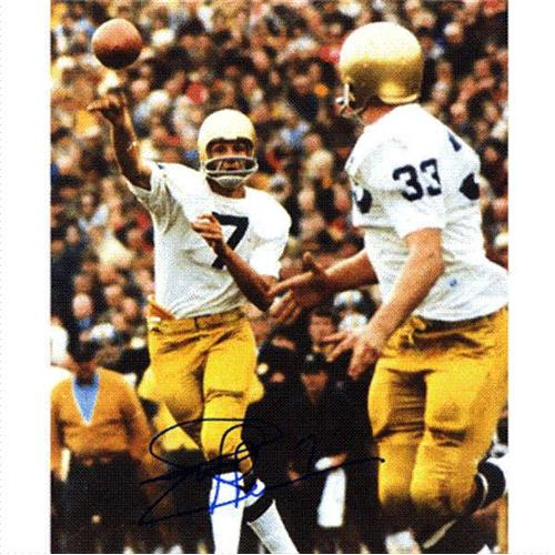 Joe Theismann Autographed Notre Dame Fighting Irish (White Jersey) 8x10 Photo