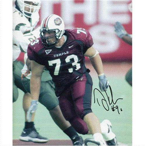 Dan Klecko Autographed Temple Owls 8x10 Photo
