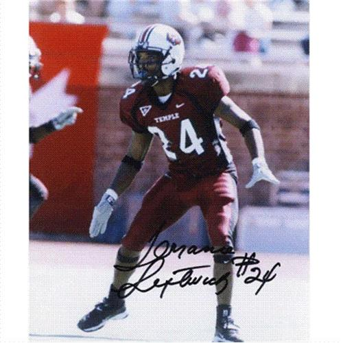 Terrance Leftwich Autographed Temple Owls 8x10 Photo