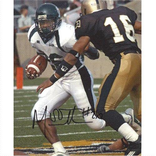 Mewelde Moore Autographed Tulane Green Wave 8×10 Photo