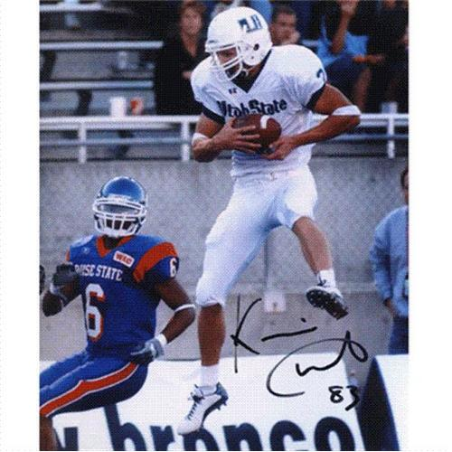 Kevin Curtis Autographed Utah State Aggies 8×10 Photo