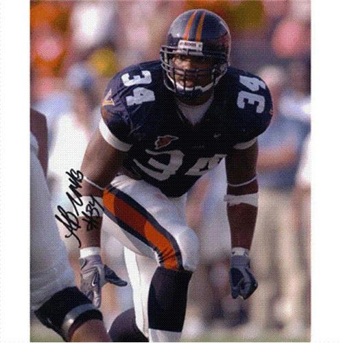 Ahmad Brooks Autographed Virginia Cavaliers 8x10 Photo