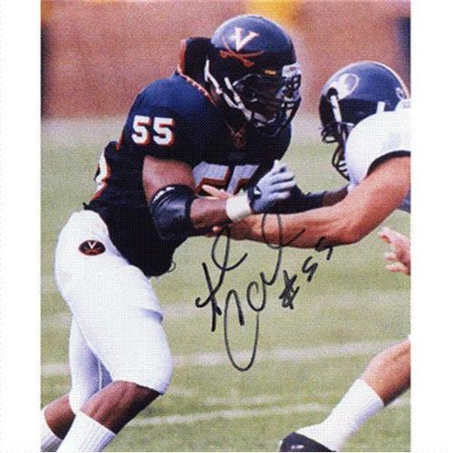 Angelo Crowell Autographed Virginia Cavaliers 8x10 Photo