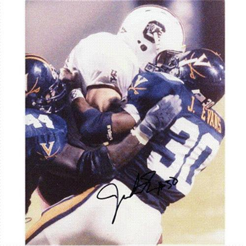 Jerton Evans Autographed Virginia Cavaliers 8x10 Photo