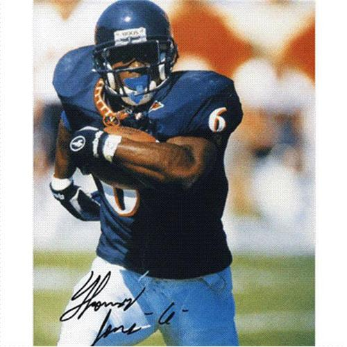 Thomas Jones Autographed Virginia Cavaliers 8x10 Photo
