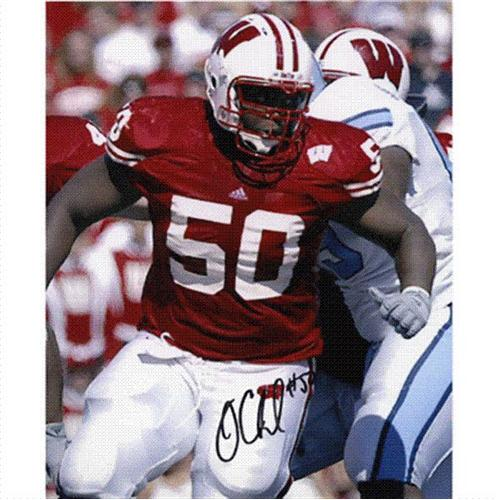 Jonathan Clinkscale Autographed Wisconsin Badgers 8x10 Photo