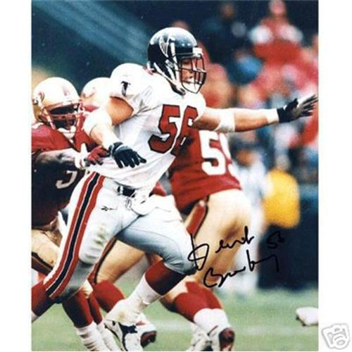 Keith Brooking Autographed Atlanta Falcons (White Jersey vs 49ers) 8x10 Photo